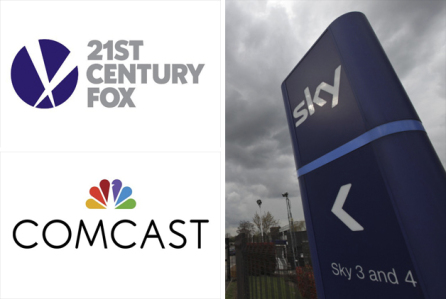 UK: Comcast, Fox to settle US$35b takeover for Sky in an auction