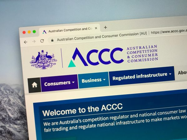 ACCC website with logo