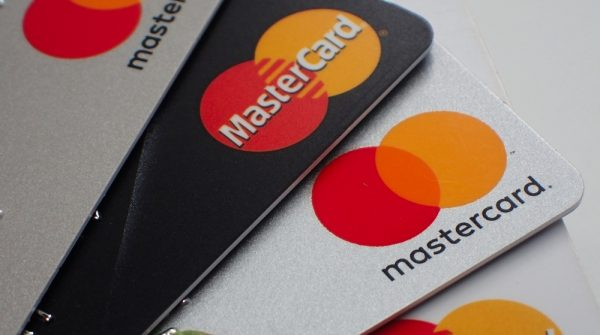 Mastercard cards with logos