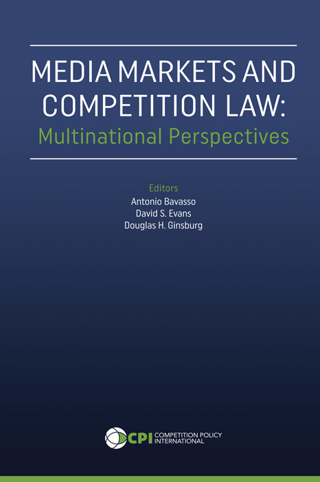MEDIA MARKET AND COMPETITION LAW: Multinational Perspectives book cover