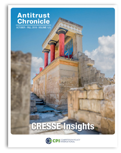 Antitrust Chronicle October I - CRESSE Insights cover