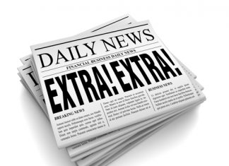 Newspaper Extra Headline