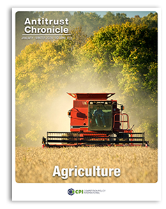 Agriculture Antitrust Chronicle JANUARY 2020 1 cover