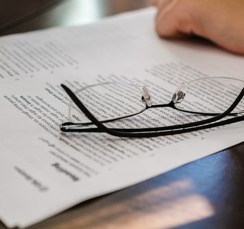 Paper with glasses